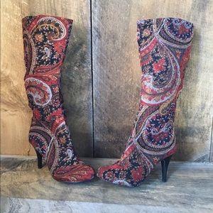 DIBA Velvet Tapestry Boots